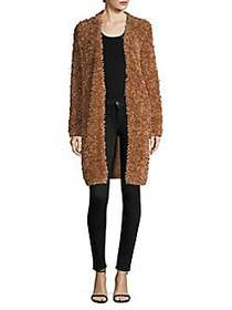 M Missoni Open-Front Coat CAMEL