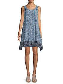 Max Studio Floral Shift Dress NAVY