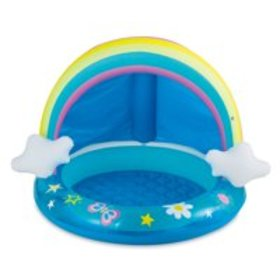 Summer Waves Round Inflatable Rainbow Baby Pool, B