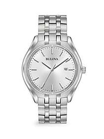 Bulova Stainless Steel Bracelet Watch NO COLOR