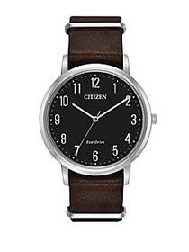 Citizen Eco-Drive Stainless Steel Textured Leather