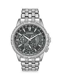 Citizen Calendrier Stainless Steel & Diamond Brace