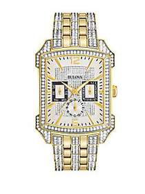 Bulova Crystals Stainless Steel Two-Tone Bracelet