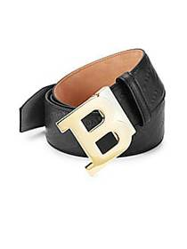 Bally Leather Logo Belt BLACK