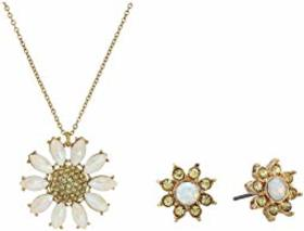 Betsey Johnson Daisy Necklace and Earrings Set