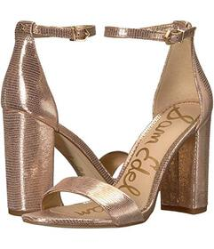 Sam Edelman Blush Gold New Glamour Lizard Print Le