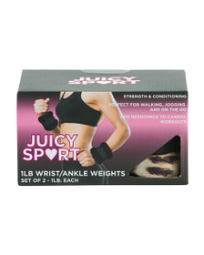 JUICY Set Of 2 1lb Wrist And Ankle Weights