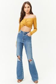 Forever21 Faux Suede Crop Top