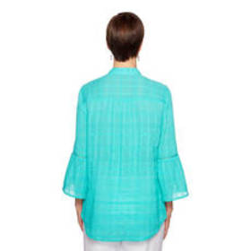 Petite Ruby Rd. Amalfi Coast 3/4 Bell Sleeve Butto