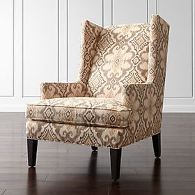 Crate Barrel Luxe High Wing Back Chair