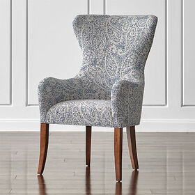 Crate Barrel Galloway Paisley Wingback Dining Chai