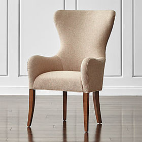 Crate Barrel Galloway Wingback Dining Chair
