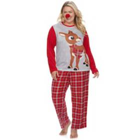 Plus Size Jammies For Your Families Rudolph the Re