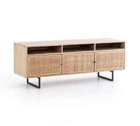 Pottery Barn Dolores Cane Media Console