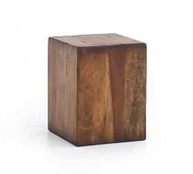 Pottery Barn Parkview Reclaimed Wood Accent Cube