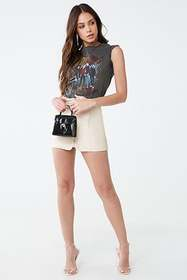 Forever21 Faux Leather Zip-Front A-Line Skirt