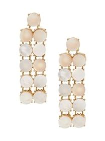 Mother of Pearl Linear Drop Earrings