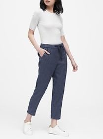 Hayden Tapered-Fit Linen-Cotton Ankle Pant