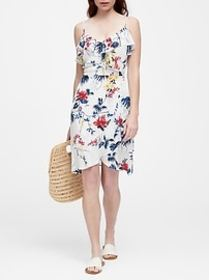 Ruffle Fit-and-Flare Dress
