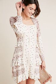 Anthropologie Astor Ruffled Dress