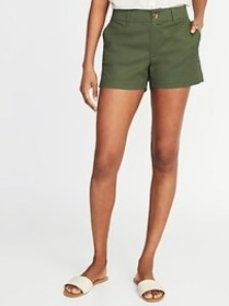 Mid-Rise Twill Everyday Shorts for Women - 3 1/2-i