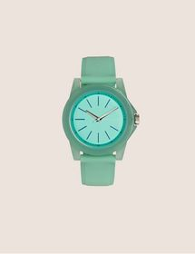 Armani BLUE AND MINT SILICONE STRAP WATCH