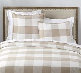 Pottery Barn Bryce Buffalo Check Cotton Duvet Cove