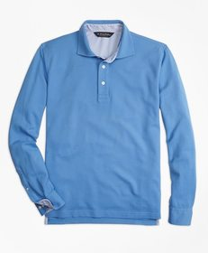 Brooks Brothers Vintage-Wash Long-Sleeve Polo Shir