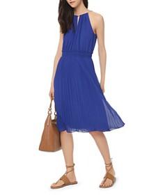 MICHAEL Michael Kors - Pleated Georgette Midi Dres
