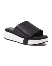 FRANCO SARTO One Band Slide Leather Sandals
