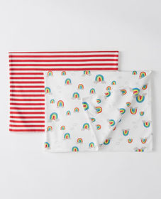 Hanna Andersson Burp Cloth 2 Pack In Organic Pima