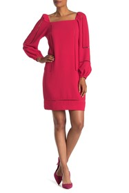 Trina Turk Natalia Long Sleeve Ladder Trim Dress