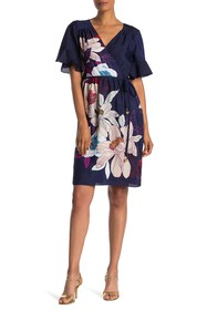 Trina Turk Lucy Short Sleeve Floral Print Dress