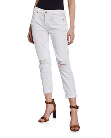 7 For All Mankind Josefina Destroyed Cropped Jeans