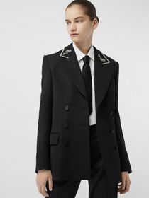Burberry Bullion Stretch Wool Double-breasted Jack
