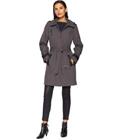 MICHAEL Michael Kors Snap Front Belted Softshell C