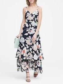 Petite Floral Tiered Maxi Dress