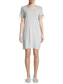 Marc New York Performance Striped Tie Sleeve Shirt
