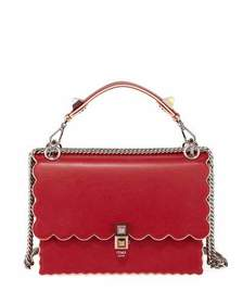 Fendi Kan I Small Leather Scalloped Shoulder Bag