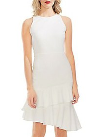 Vince Camuto Mystic Blooms Ruffle Asymmetrical She
