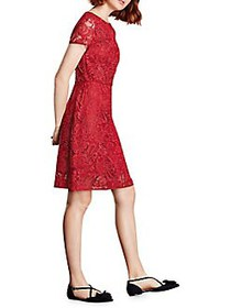 Brooks Brothers Red Fleece Embroidered Lace A-Line