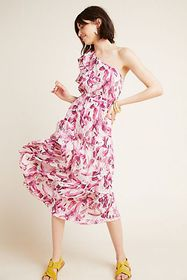 Anthropologie Mahana Ruffled Dress