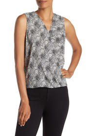 Adrianna Papell Sleeveless Faux Wrap Top