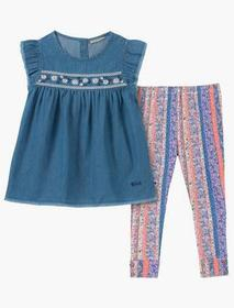 Lucky Brand 12m-24m Two Piece Denim And Legging Se