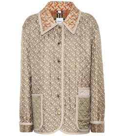 Burberry Printed quilted silk jacket