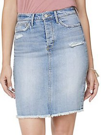 Sam Edelman The Riley Denim Pencil Skirt LOUIE