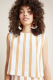 Anthropologie Ilona Cropped Blouse