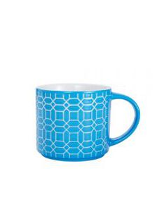 Mikasa Blue Geometric Stackable Mug