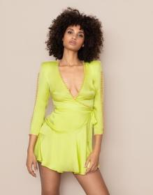 Ebby Short Dress Lime