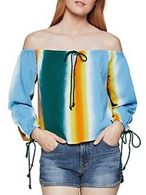 BCBGeneration Faded Stripe Off-the-Shoulder Top MU
